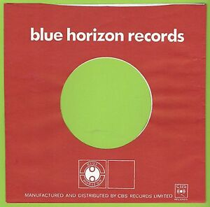 BLUE HORIZON RECORDS (blue) - REPRODUCTION RECORD COMPANY SLEEVES - (pack of 10)