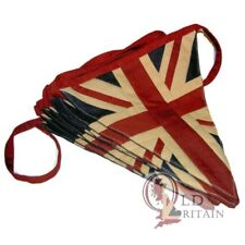 Vintage Union Jack Bunting | 4 Meters Cotton - 9 Quality Sewn Flags