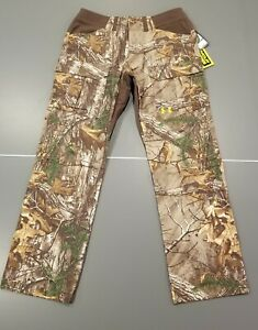 Under Armour Pants Scent Control Hunting Camo Realtree Xtra 36X34 36/34 Men's UA