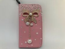 iPhone 4  Magnetic Flip Card Wallet Leather Case Cover pink