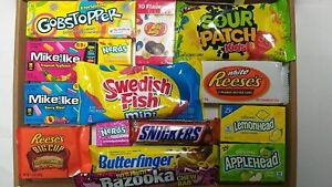 American Candy Box Hamper of Sweets and Chocolate by Candy Town 15 Items CT2