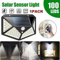 100 LED Solar Powered Light Outdoor Motion Sensor Wall Yard Spa Garden Lamps New