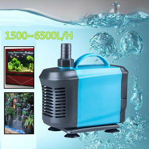 1500-6500L/H Submersible Silent Aquarium Pond Fish Tank Oxygen Water Filter Pump