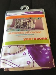 your zone purple guitar pillowcase one pair