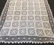 "72x144"" White 100% Cotton Handmade Crochet Rectangle Vintage Style Tablecloths"