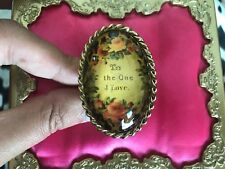 Betsey Johnson Vintage Think Of Me Dome TO THE ONE I LOVE Rose Leopard Ring