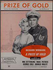 1954 A Prize Of Gold Washington & Lee Richard Widmark Mai Zetterling Sheet Music
