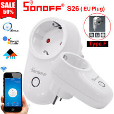 Sonoff S26 EU (F) Plug TFTTT WIFI Smart Power Socket Wireless Time APP Control