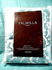 Duvet Z Gallerie Palmilla Floral Aqua Green Cream Cotton King Sz Reversible New