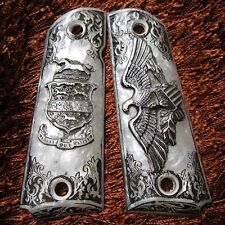 NEW RESIN PEARL GRIPS EAGLE STYLE FOR COLT 1911,CLONE,KIMBER PISTOL FULL SIZE
