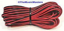 22 Gauge 60' ft SPEAKER WIRE Red Black Cable Car Audio Home Stereo 12V DC Power
