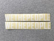 """NEW 2 x We The People BMX Frame Stickers 10.5"""" White & Clear Sticker Decals WTP"""