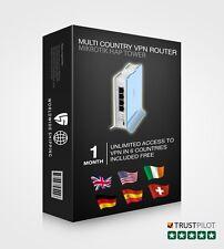 Router VPN configurado pre-, seguro, de alta velocidad compatible con todos los dispositivos