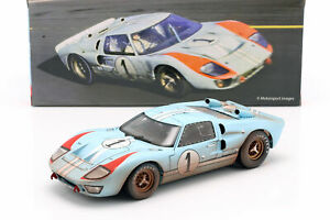 Ford GT40 MK II Dirty Version #1 2nd 24h LeMans 1966 Miles, Hulme 1:18 ShelbyCol