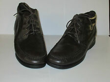 Men's Hush Puppies SIZE 12 Lace-up Brown Leather Chukka Boots