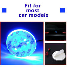 Badge Background LED Light Emblem Logo sticker For BMW 3 5 7 X Series Blue 82mm