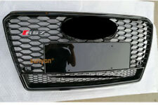 RS7 Style Black Grille Grill With Quattro Black Rings For 2013 2014 Audi A7 S7