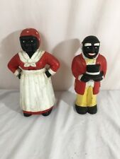 Cast Iron Black African American Remose And Aunt Jemima Piggy Banks RARE!!