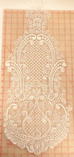 """12 Thin large white embroidered beaded sequin applique flower designs bridal 25"""""""