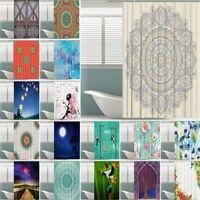 Duschvorhang 180x180cm Anti Schimmel Textil Badewannenvorhang Wannenvorhang Set