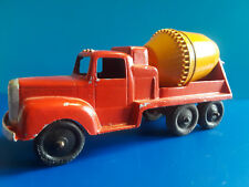Vtg Collectible Tootsie Toy Metal Cement Truck Red/Yellow Chicago U.S.A