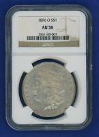 1896 O NGC AU58 Morgan Silver Dollar $1 Rare Key Date 1896-O NGC AU-58