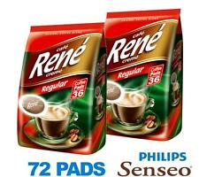 Philips Senseo 72 x Cafe Rene Cremé Regular Roast Coffee Pads Bags Pods