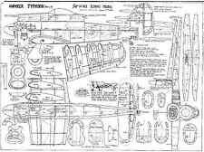 Harold J. Towner Hawker Typhoon ligne de contrôle plans