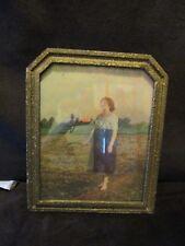 "Art PRINT Song of the Lark Original Art Deco wood frame 1930's vintage 11.5"" H."