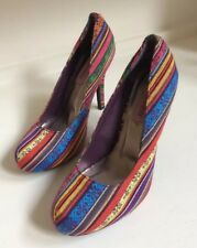 Torta Caliente Women's Heels Shoes Multi-colored Size 10 Excellent Condition