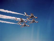 MILITARY AIR PLANE FIGHTER JET F84F THUNDERSTREAK FORMATION POSTER PRINT BB1069A