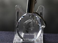 Friese Pferd, Pferd Kristall rund Schlüsselbund, Crystal Animals AT