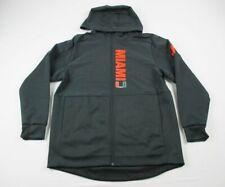 Miami Hurricanes adidas Jacket Men's Black Poly NEW Multiple Sizes