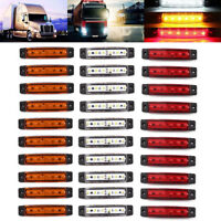 30 pcs LED SIDE MARKER LIGHT WHITE YELLOW RED 24V 6 SMD POSITION TRUCK TRAILER
