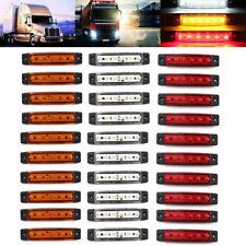 30 pcs 12V 6 LED SMD WHITE YELLOW RED SIDE MARKER LIGHT POSITION TRUCK TRAILER