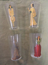 #CC9.  FOUR LADY DRESSED / UNDRESSED 1930/40s BEER GLASSES
