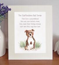 Staffordshire Bull Terrier BESTEST CHUM Novelty Poem 8x10 Picture/Print Fun Gift
