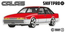 VL Calais Holden Commodore Sticker - Red with Factory Rims - ShiftPro Brand