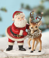 BETHANY LOWE DESIGNS: CHRISTMAS;  RETRO SANTA WITH REINDEER
