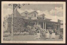 Postcard LAURIERVILLE P.Q. CANADA  Hotel La Maison Blanche w/Spire view 1920's?