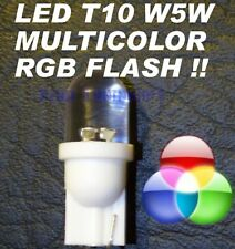 Lampadine LED RGB MULTICOLOR T10 W5W FLASH Luci 12V tri