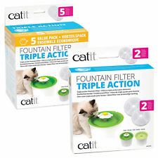Catit Triple Action Filter Packs 2pk 5pk for Flower Water Fountain Cat Dog Bird
