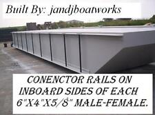 NEW 40X20'X4' SECTIONAL BARGE, WORK FLOATS, DOCKS, TRUCKABLE BARGES, DREDGE