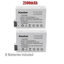 2x Kastar Battery for Canon LP-E8 LPE8 EOS 550D 600D 700D Rebel T2i T3i T4i T5i