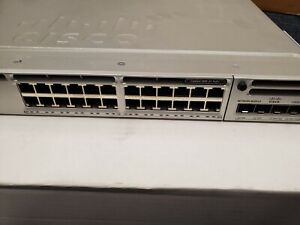 Cisco Catalyst WS-C3850-24P-S 24 PoE+ w/ NM-2-10G Module Dual Power Supplies