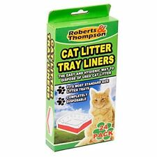 24 Scented Cat Litter Tray Liners Disposable Bags White (Approx) 70cm X 30cm NEW