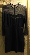 Cocktail Black Dress with Illusion  !!!  Size ~6.
