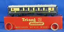 "TRI-ANG OO GUAGE R228 9"" BROWN/CREAM 1st CLASS PULLMAN CAR ""JANE"" VGC Boxed"