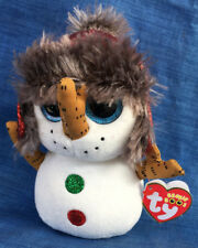 Ty Beanie Boos 6in Buttons The Christmas Snowman 2018 Beanbag Plush Stuffed Toy