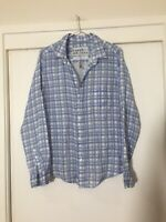 "Frank And Eileen Ladies Linen ""barry"" Buttoned Shirt Blouse Top Size L Good Cond"